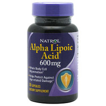 Alpha Lipoic Acid Double Strength Powerful Antioxidant 30 Capsules  600mg From Natrol