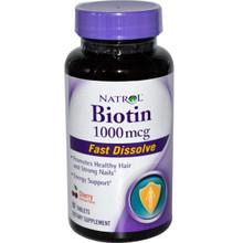 Biotin 1000 mcg Fast Dissolve Cherry 90 Tablets Natrol
