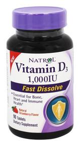 Vitamin D3 1 000IU Fast Dissolve 90 TAB By Natrol