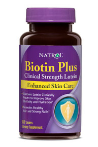 Biotin with Lutein 5 00mcg + 10mg 60 CAPSULE By Natrol