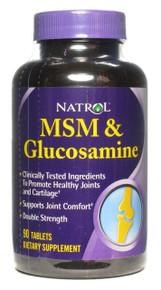 MSM/Glucosamine 500/500 Bonus 60+30 Tablets Natrol
