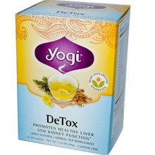 Detox Caffeine Free 16 Tea Bags 1.02 oz (29 g) From Yogi Tea