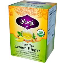 Green Tea Lemon Ginger Tea 16 tea bags from Yogi Tea