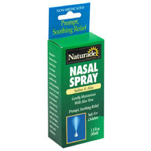 Nasal Spray Saline & Aloe 1.5 oz. From Naturade
