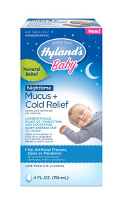 Baby Nighttime Mucus Cold Relief 4 OZ By Hylands
