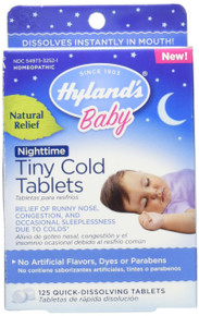 Baby Nighttime Tiny Cold Tablets 125 TABLET By Hylands