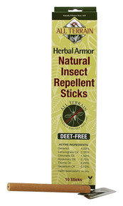 Herbal Armor Insect Repellent Sticks 10 PC By All Terrain