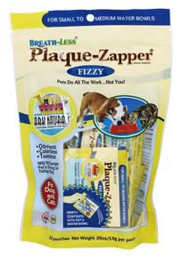 Breath-Less Fizzy Plaque Packets Zapper for Small to Medium Pets 30 CT By Ark Naturals