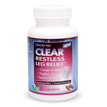 Clear Restless Leg Relief 60 Capsules Clear Products