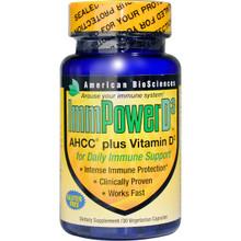 American Biosciences ImmPower D3 AHCC Plus Vitamin D3 30 Veggie Caps