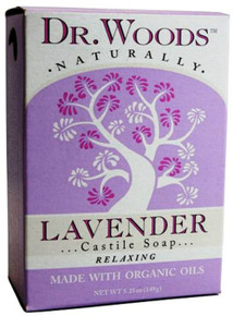 Bar Soap Lavender with Org Flowers 5.25 OZ By Dr Woods