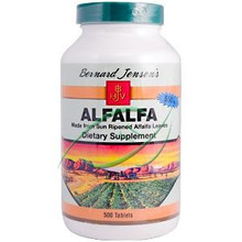 Alfalfa 550 mg 500 Tablets From Bernard Jensen's