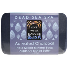 Activated Charcoal Dead Sea Spa Bar Soap 7 OZ By One With Nature