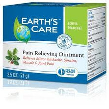 Earth's Care Pain Relieving Ointment Triple Action 2.5 oz