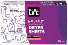 Dryer Sheet Grapefruit Lavender 80 CT By Better Life