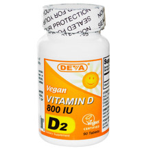 Deva Vitamin D Vegan 800 IU 90 Tablets