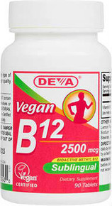 Deva Vegan B12 2500mcg Sublingual 90 Tablet