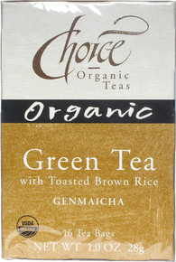 Genmaicha Green w/Tstd Brown Rice, 6 of 16 BAG, Choice Organic Teas