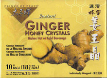Ginger Honey Crystals, Instant, 10 CT, Prince Of Peace