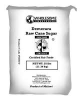 Demerara Turbinado, 25 LB, Wholesome Sweeteners