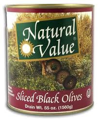 Black Sliced, No Ferrous Gluconate, 6 of 108 OZ, Natural Value