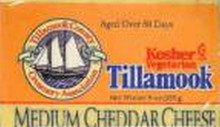 Cheddar, Medium Kosher, 12 of 8 OZ, Tillamook