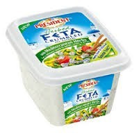 Feta Crumbled, Medit Herb, 8 of 6 OZ, President