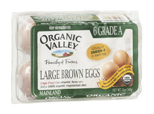 Brown, Large, Omega 3, 12 of 6 CT , Organic Valley