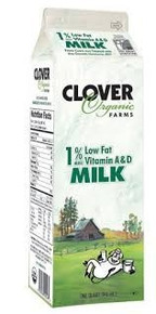 1% Low Fat, 12 of 32 OZ, Clover Organic Farms