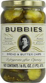 Bread & Butter Chips, 12 of 16 OZ, Bubbies Of San Francisco