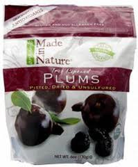 Plums, 12 of 6 OZ, Made In Nature