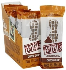 Carob Chip, 8 of 2.5 OZ, Perfect Foods Bar