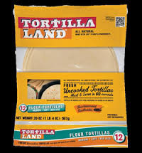 Uncooked (Unbleached) Natural, 12 of 12 CT, Tortilla Land