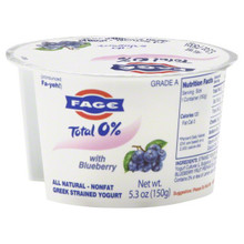 Blueberry, 0%, 12 of 5.3 OZ, Fage