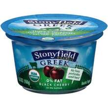 Black Cherry, No Fat, FOB, 12 of 5.3 OZ, Stonyfield Farm
