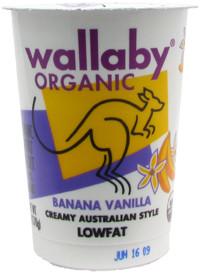 Banana Vanilla, 12 of 6 OZ, Wallaby Organic
