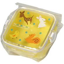 Children's Yellow Forest Animal Bento Box  From Kotobuki