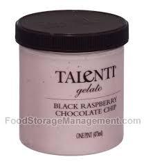 Black Raspberry Chocolate Chip, 8 of 16 OZ, Talenti Gelato E Sorbetto