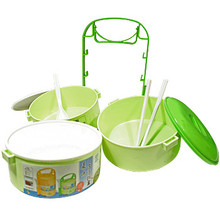 Large Green Bento Lunch Box  From AFG