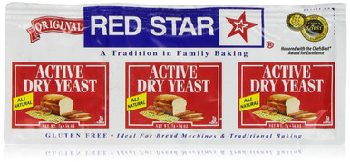 Active Dry Yeast, 18 of 0.75 OZ, Red Star