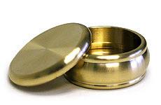Buddha Magnetic Okito Box & Lid - Brass, Half Dollar Size