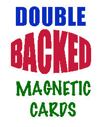 Magnetic Card, Double Back Blue (2)