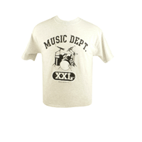 Music Dept. Drums T-Shirt, One-Size, X-Large