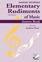 Music books plus elementary rudiments of music answer book 2nd elementary rudiments of music answer book 2nd edition twera image 1 fandeluxe Gallery