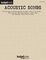 Acoustic Songs - Budget Books - Easy Piano