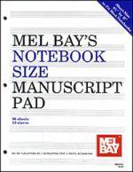 Notebook-Size Manuscript Pad 10-Stave