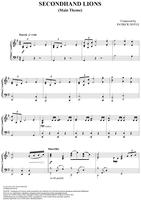 Second Hand Lions Theme - Original Sheet Music
