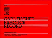 Carl Fischer Practice Record - Student Book