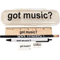 Got Music Pencil Case with Supplies