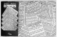 Sheet Music Place Mat and Coaster Set